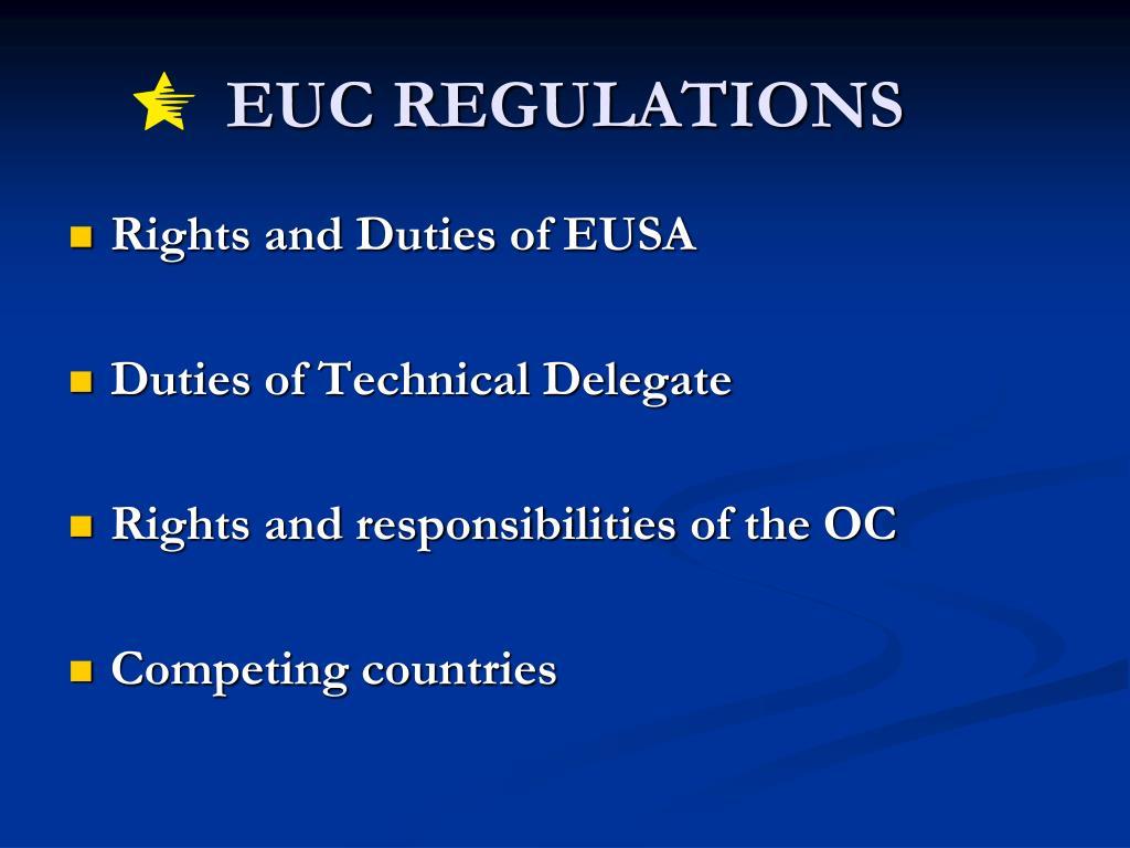 EUC REGULATIONS