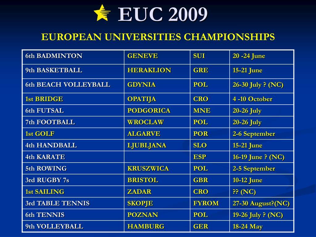 EUC 2009