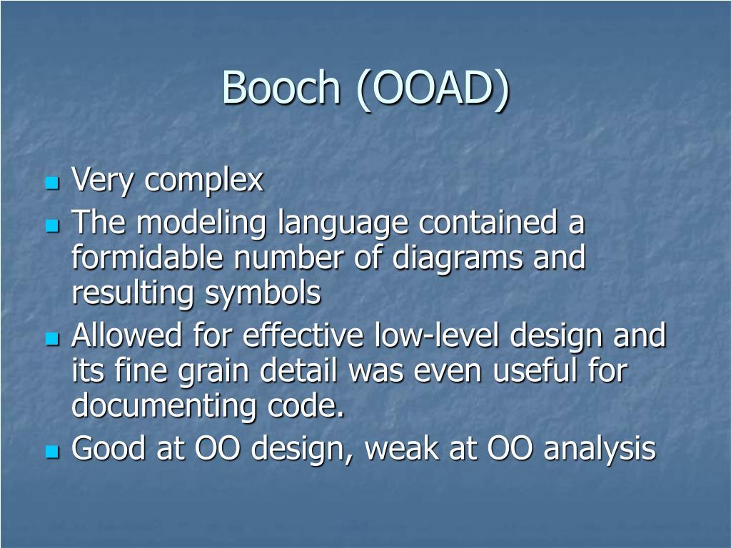 Booch (OOAD)