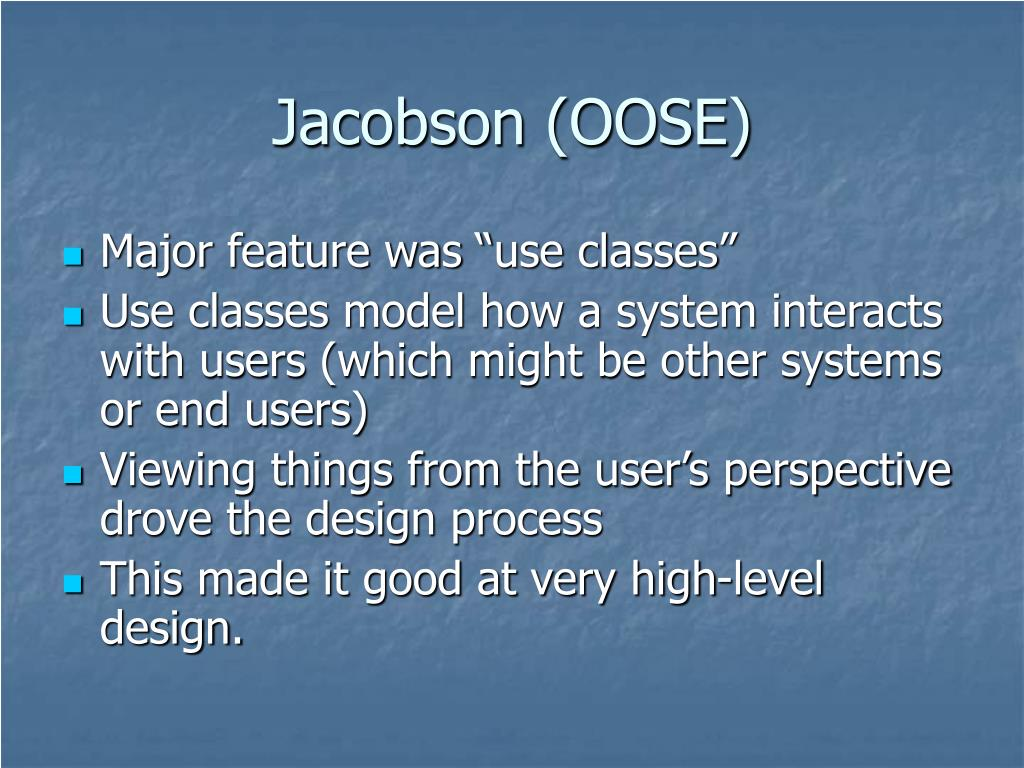 Jacobson (OOSE)