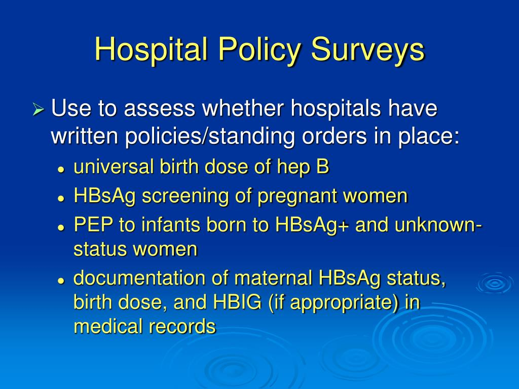 Hospital Policy Surveys