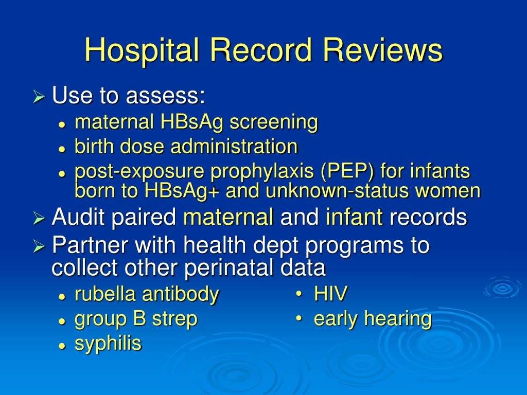 Hospital Record Reviews