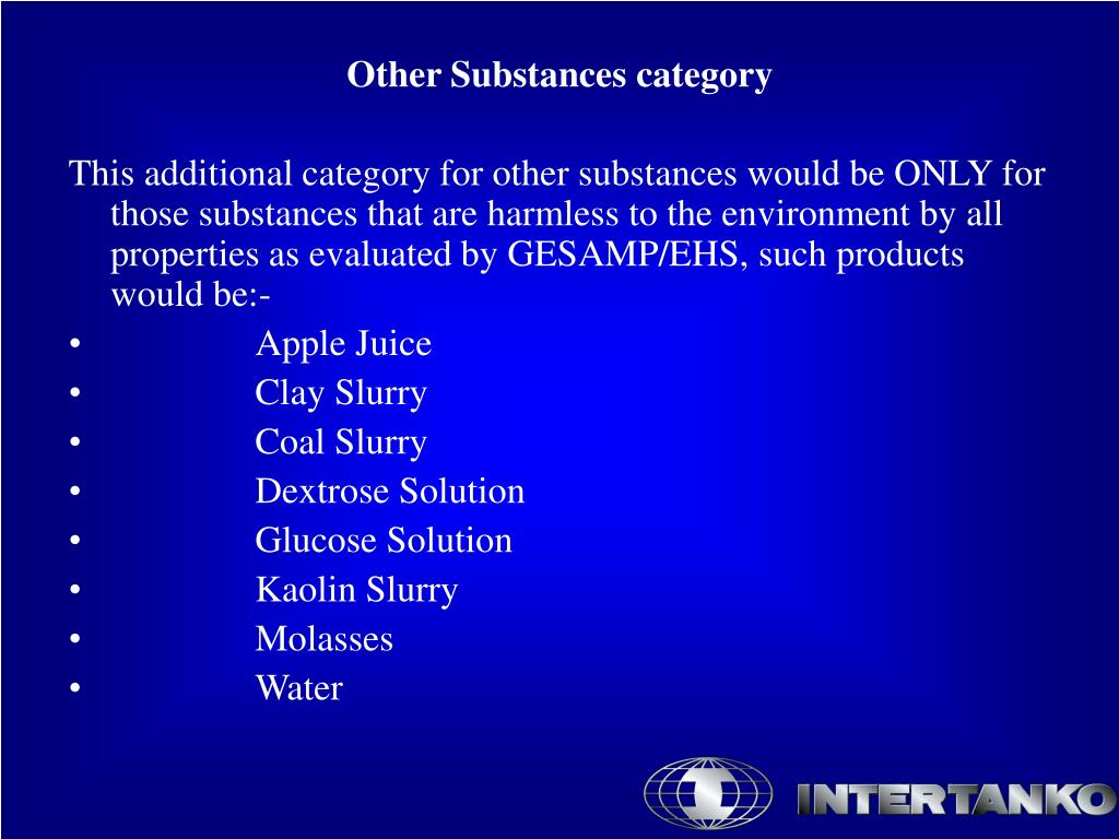 Other Substances category