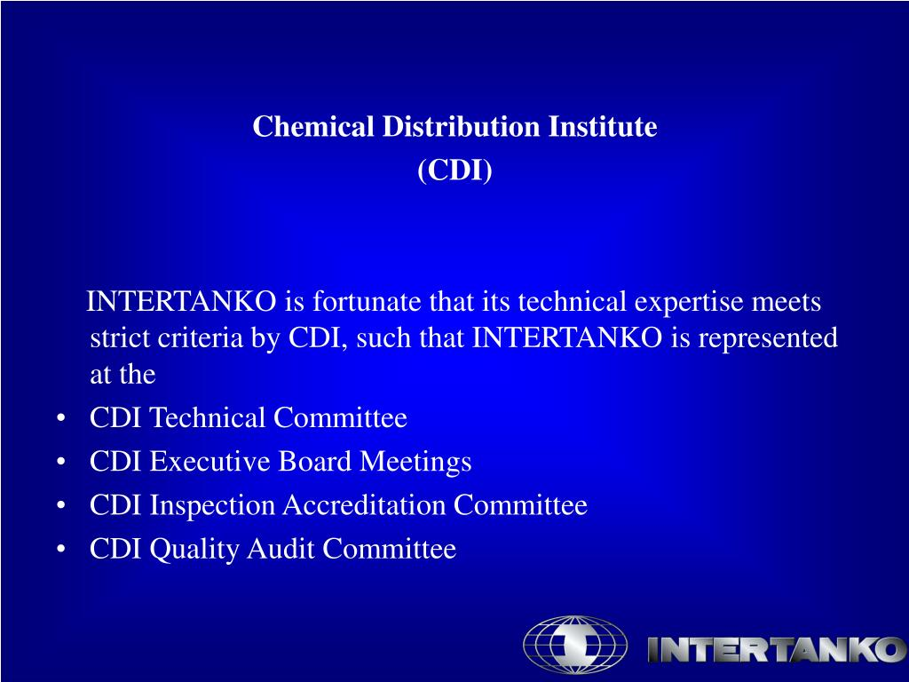 Chemical Distribution Institute