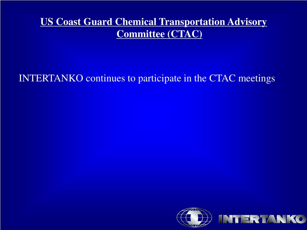US Coast Guard Chemical Transportation Advisory Committee (CTAC)