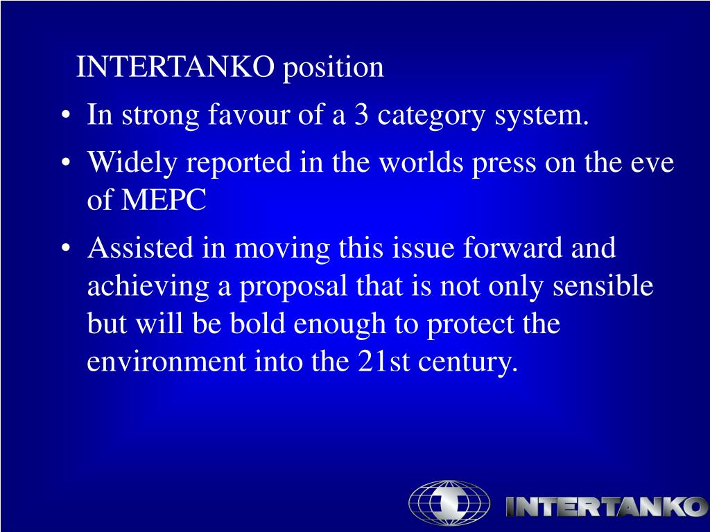 INTERTANKO position