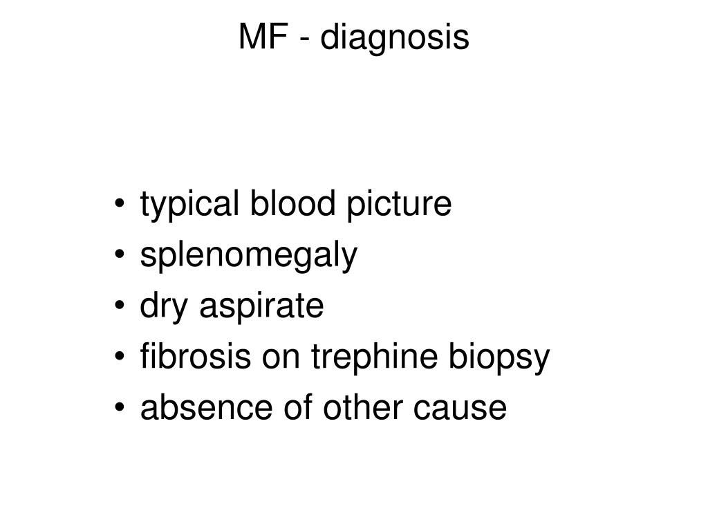 MF - diagnosis