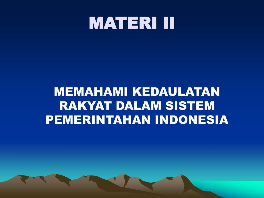 MATERI II