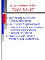 export import for ts pp draft