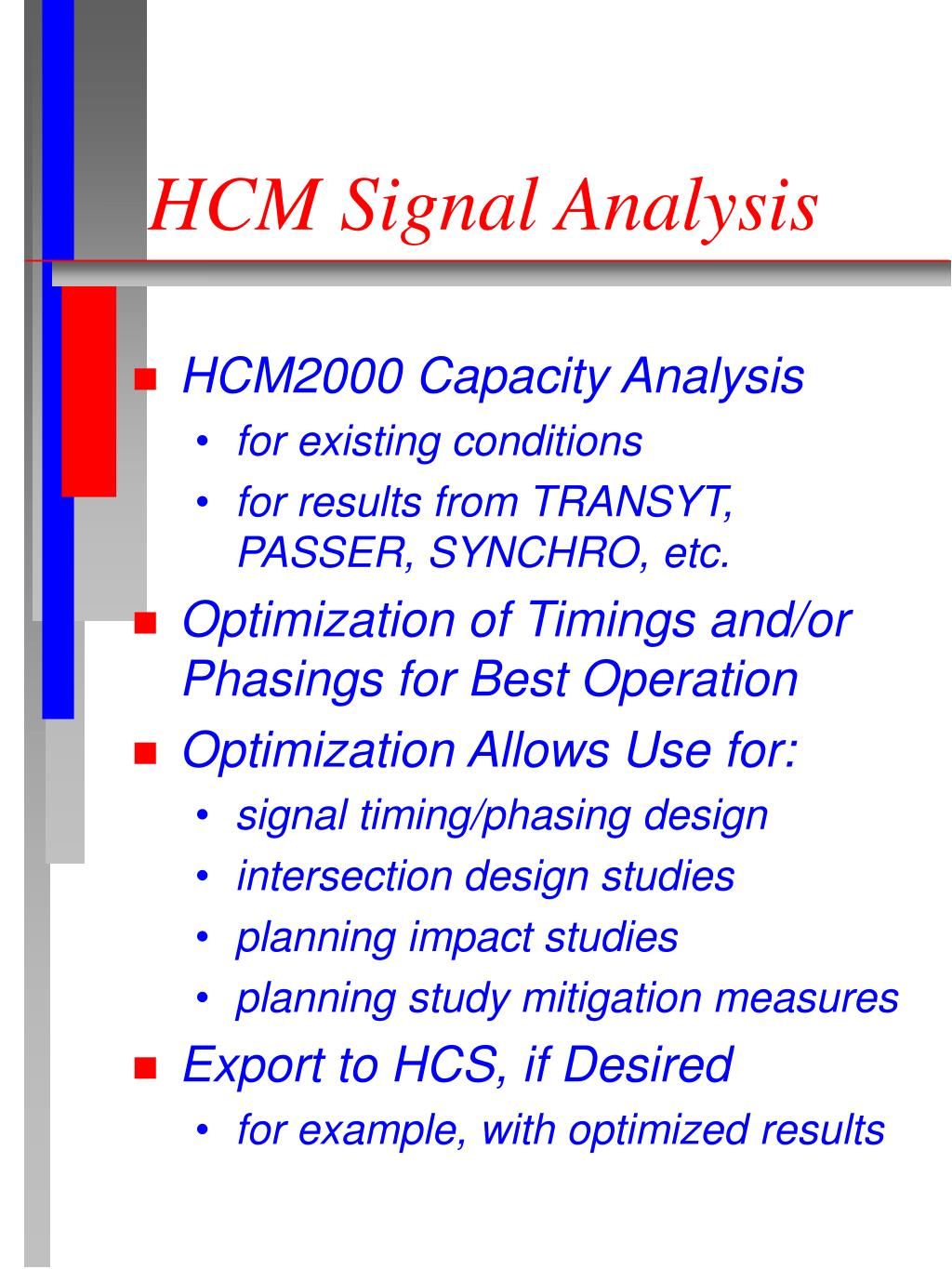 HCM Signal Analysis