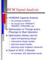 hcm signal analysis