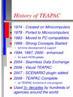 history of teapac