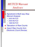 mutcd warrant analyses