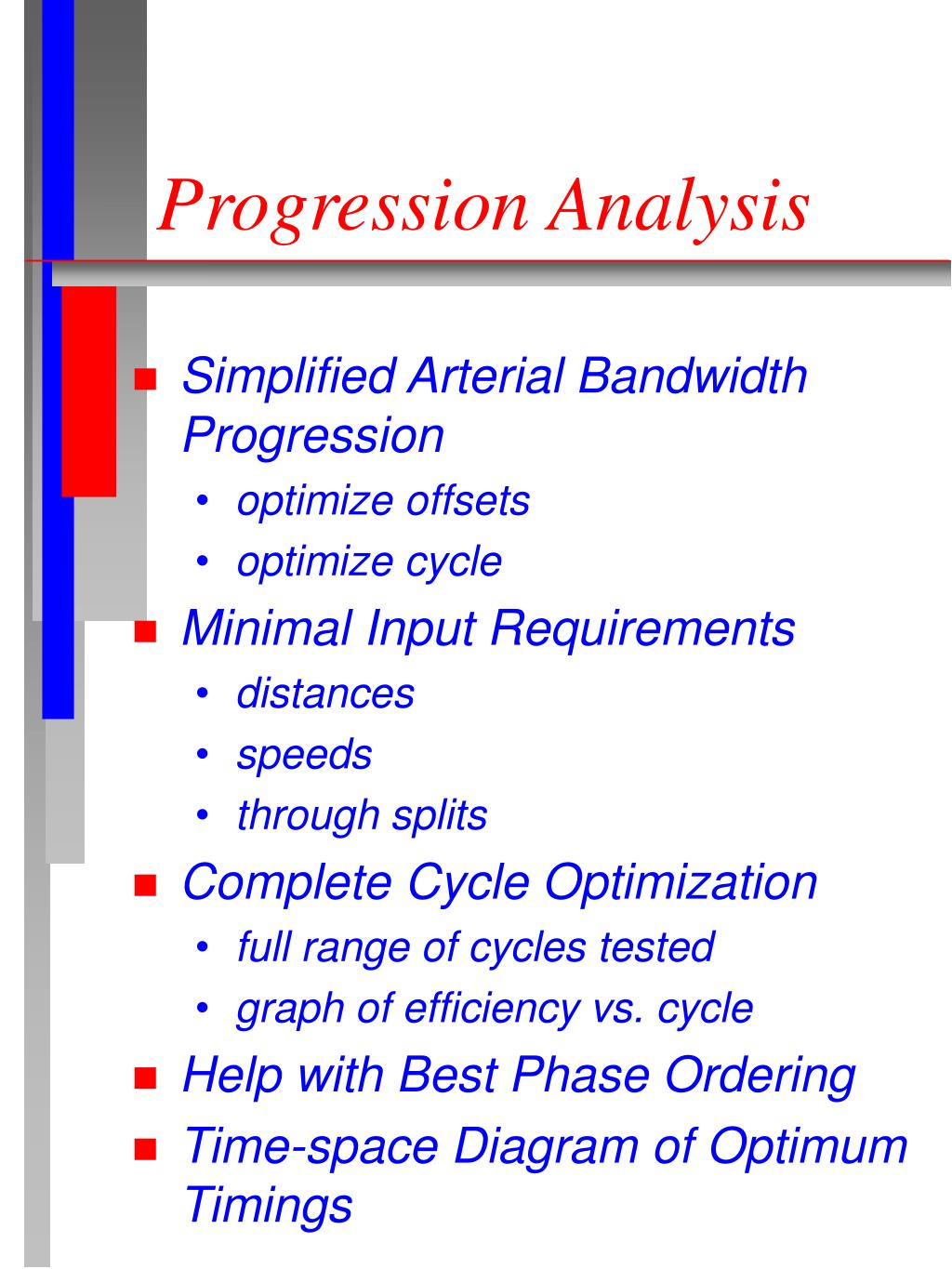 Progression Analysis