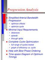 progression analysis