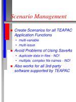 scenario management