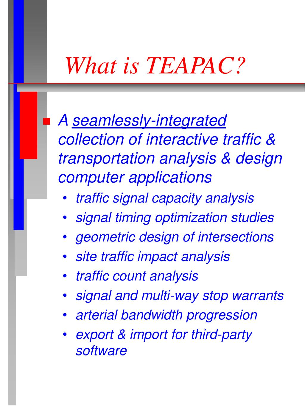 What is TEAPAC?