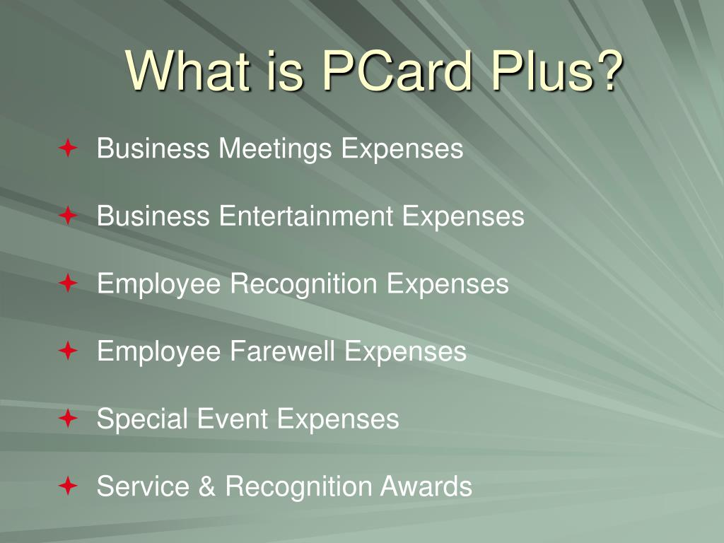 What is PCard Plus?