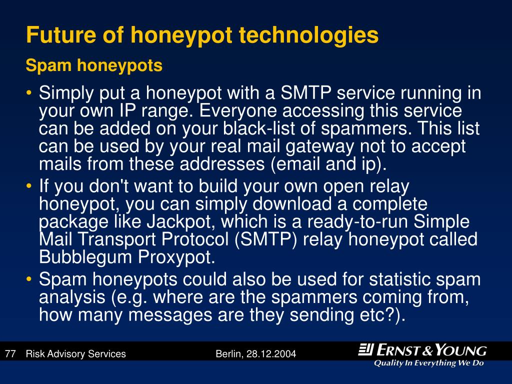 Future of honeypot technologies