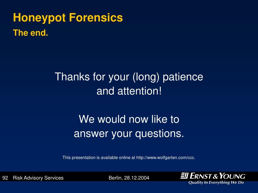 Honeypot Forensics