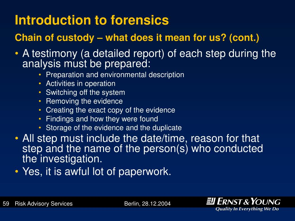 Introduction to forensics