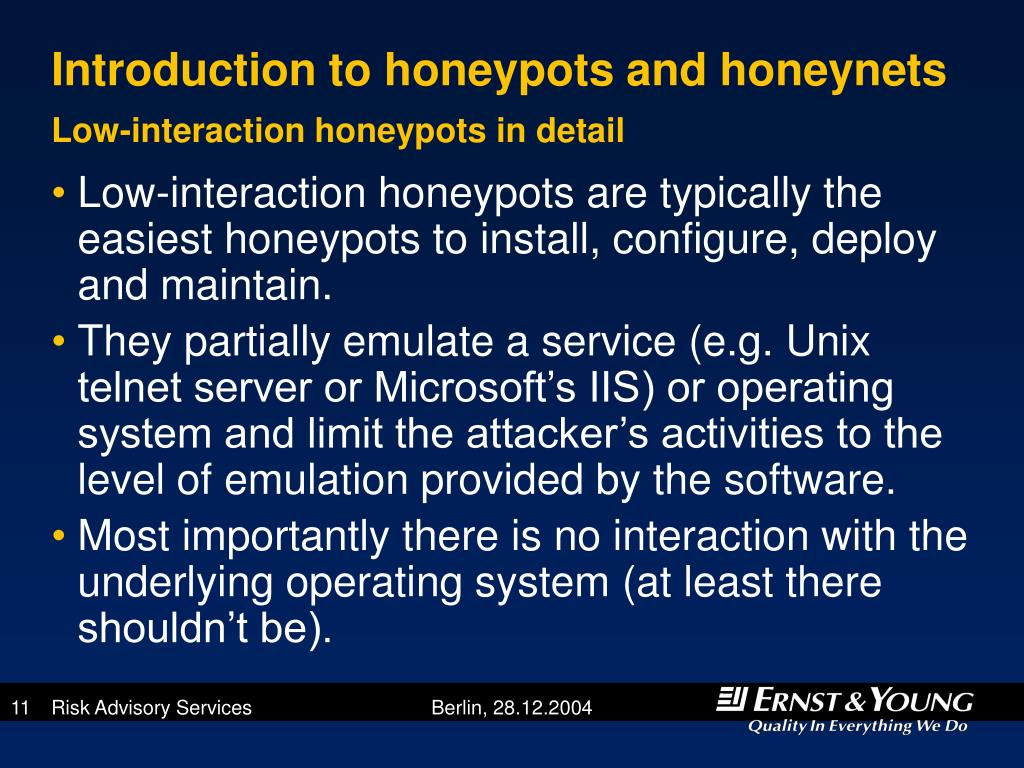 Introduction to honeypots and honeynets