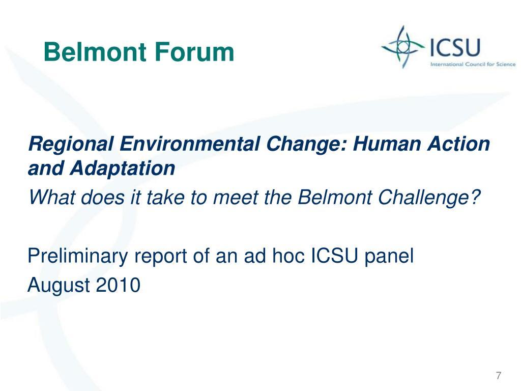 Belmont Forum