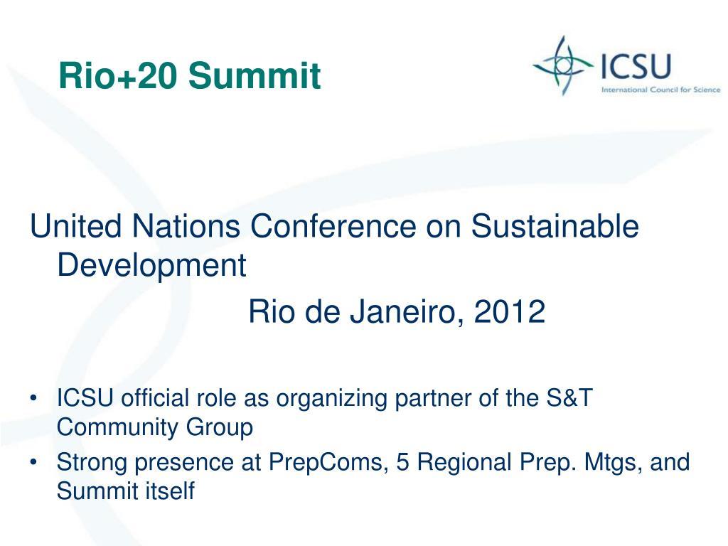 Rio+20 Summit