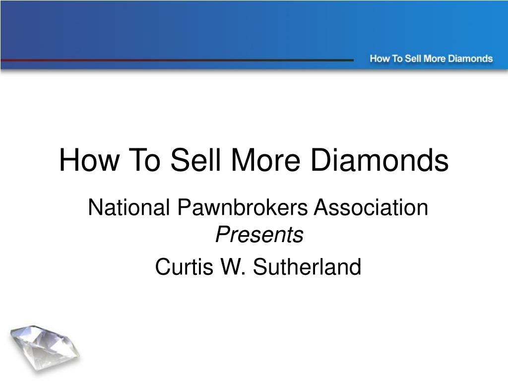How To Sell More Diamonds