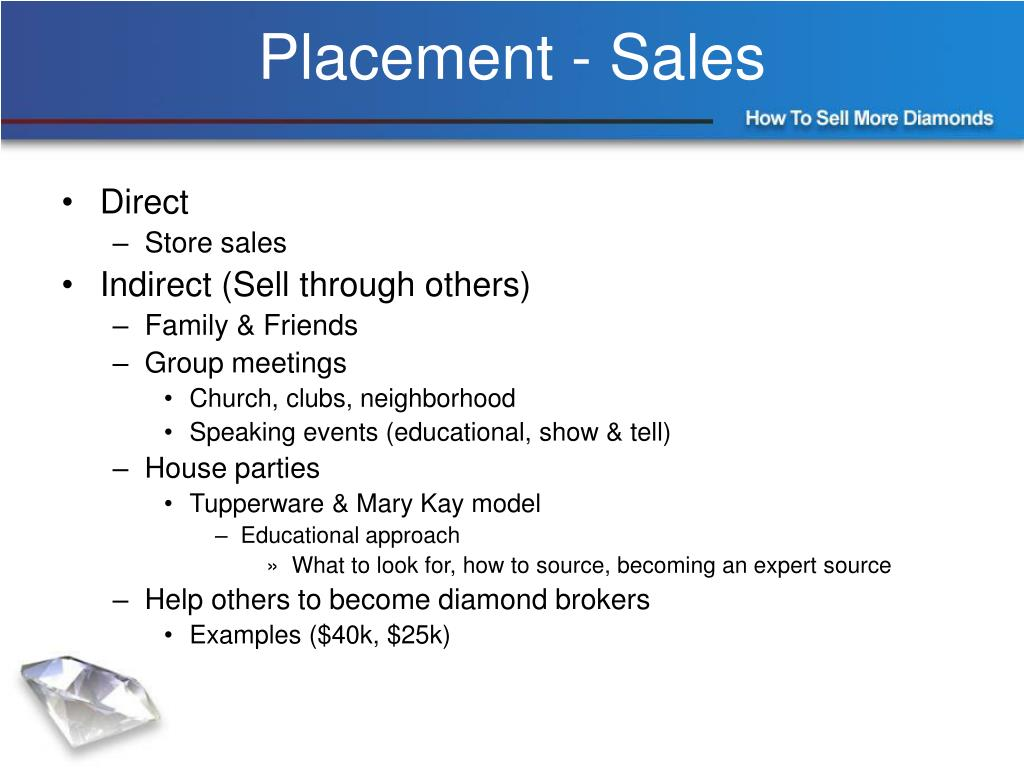 Placement - Sales