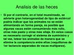 analisis de las heces