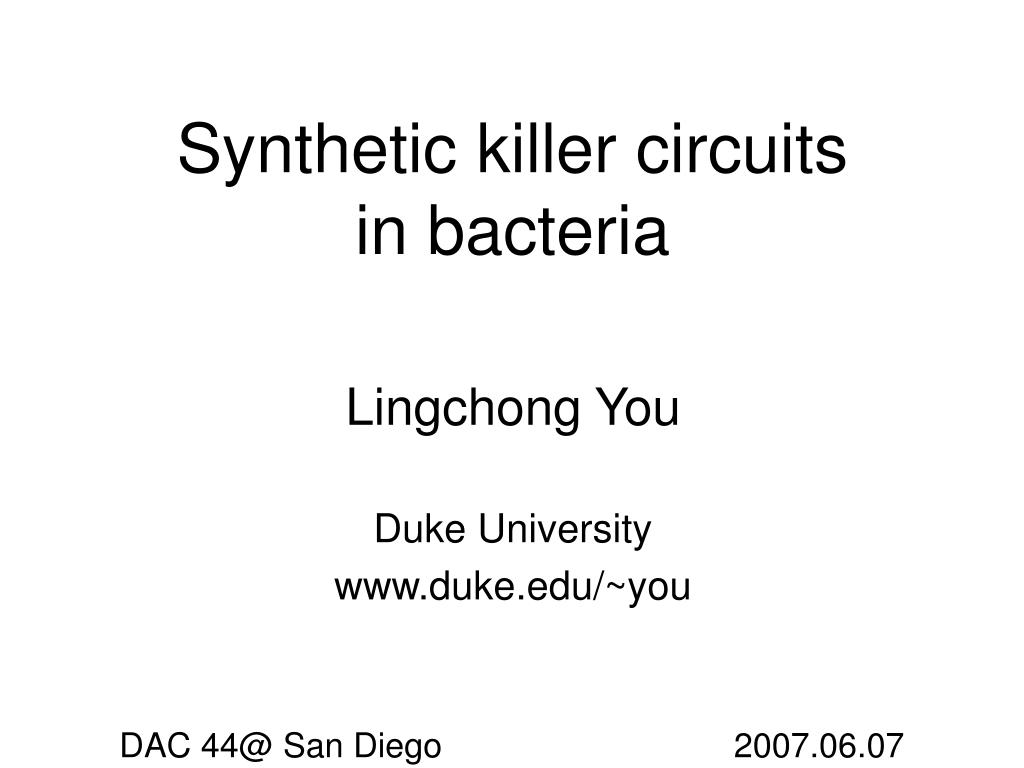 Synthetic killer circuits