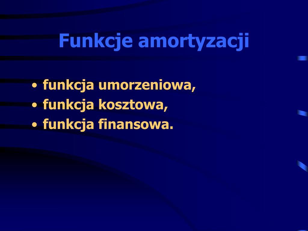 Funkcje amortyzacji