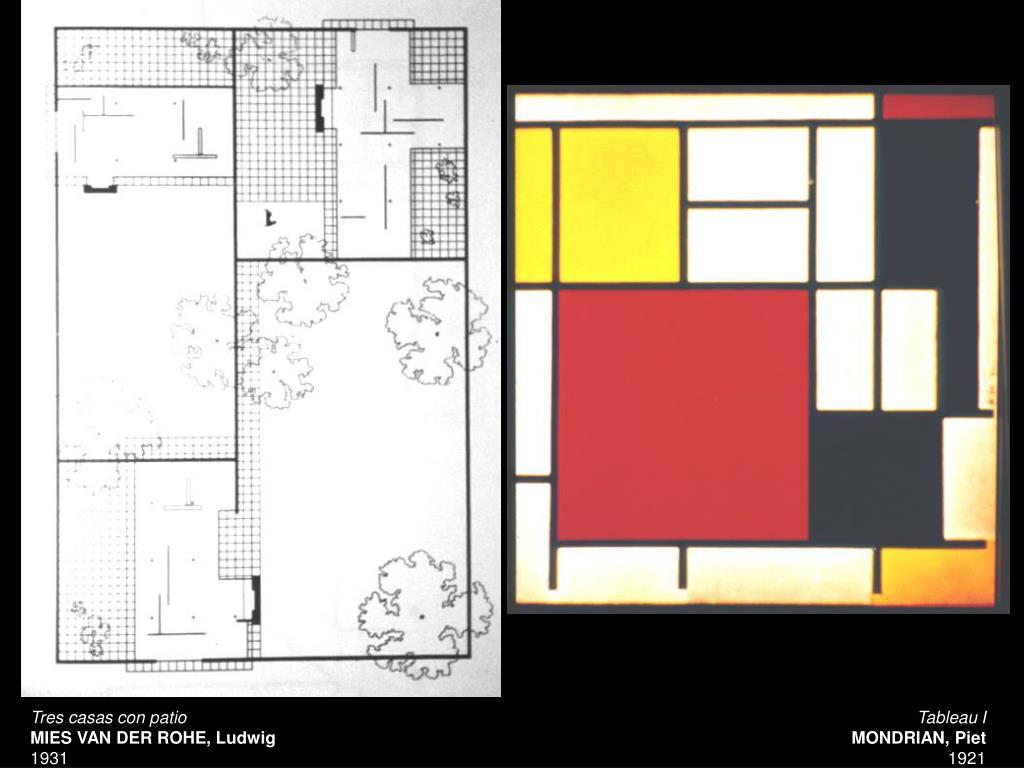Tres casas con patio