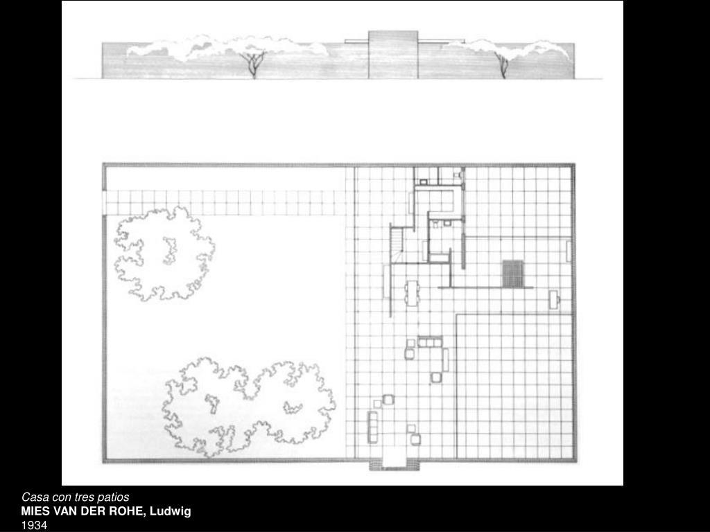 Casa con tres patios