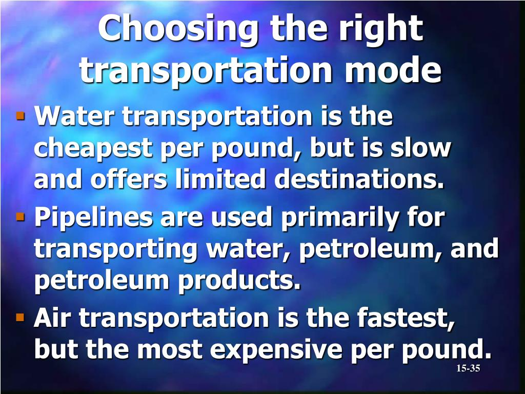 Choosing the right transportation mode