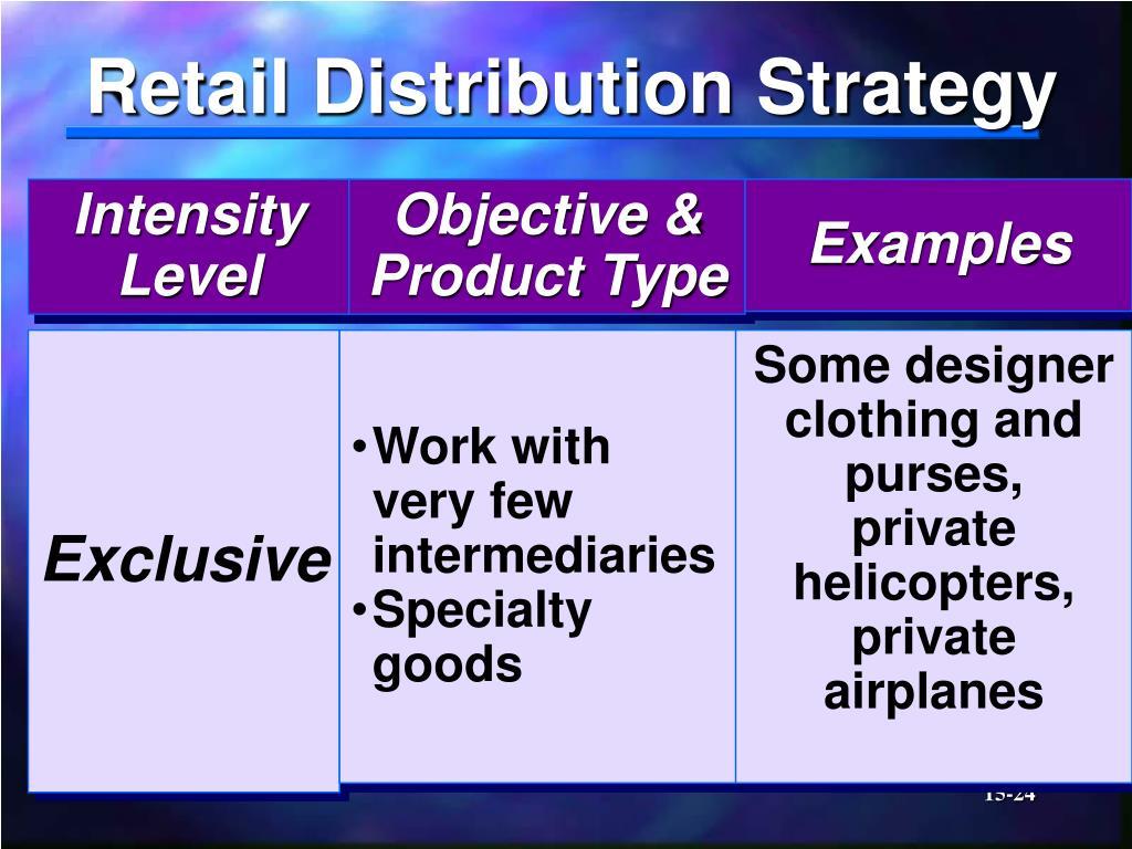 Retail Distribution Strategy