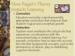 how piaget s theory impacts learning