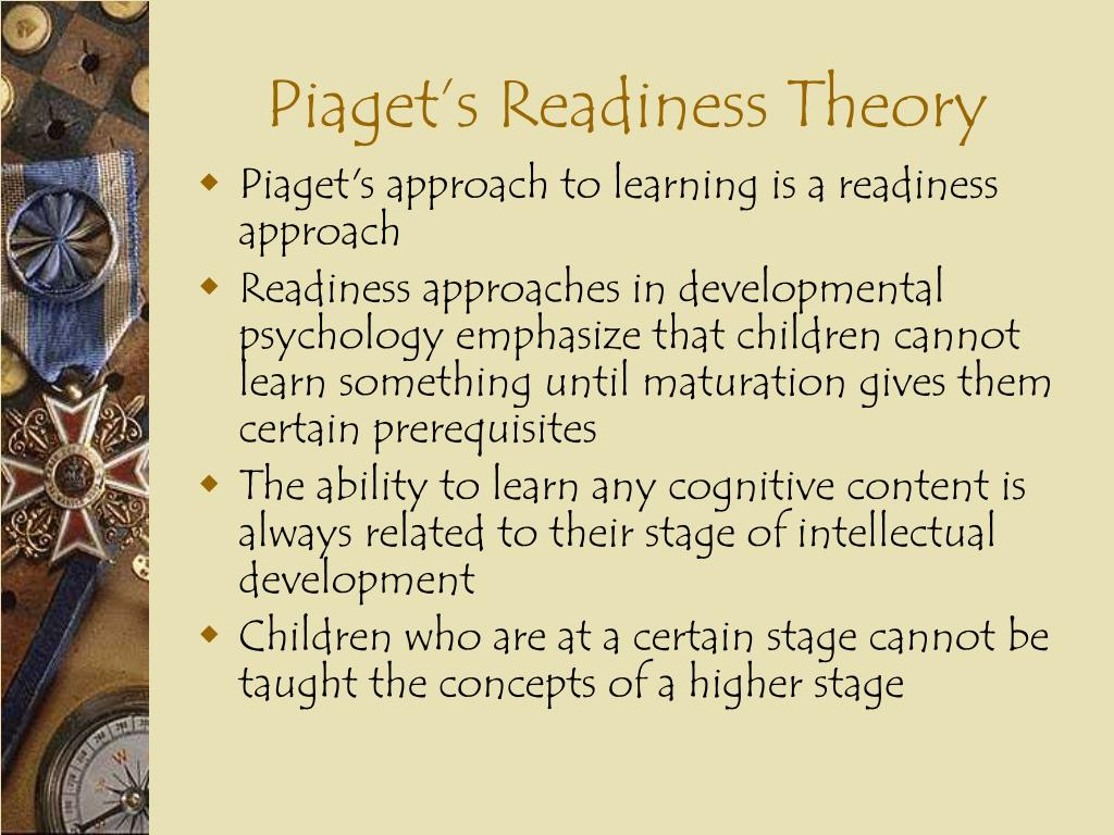Piaget's Readiness Theory