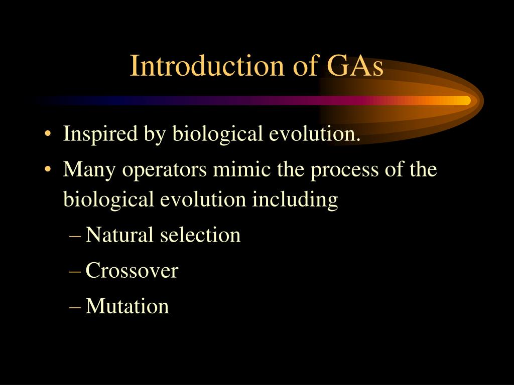 Introduction of GAs