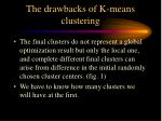 the drawbacks of k means clustering