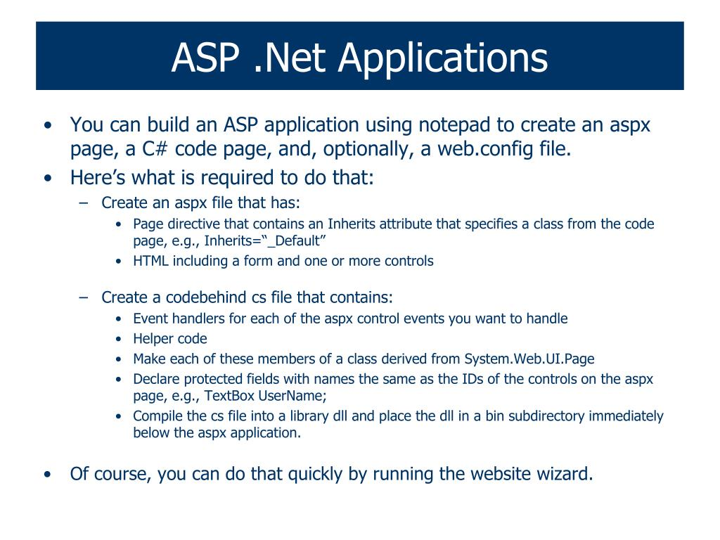 ASP .Net Applications