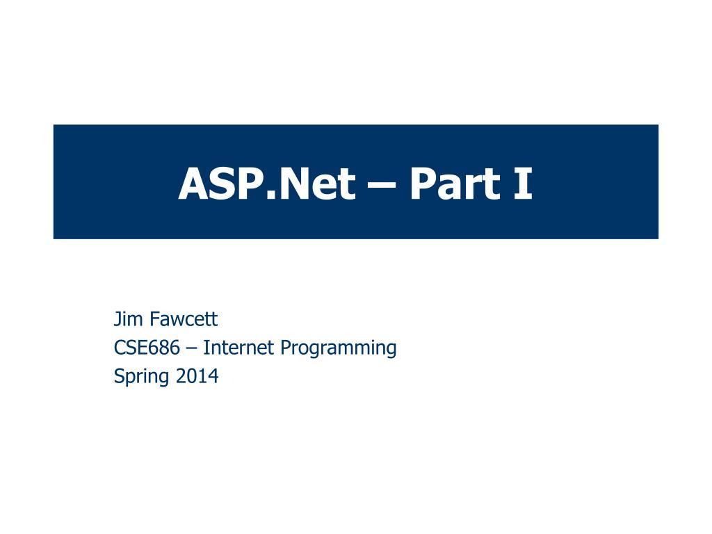 ASP.Net – Part I