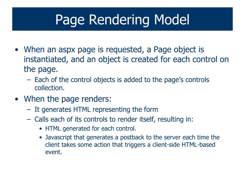 Page Rendering Model