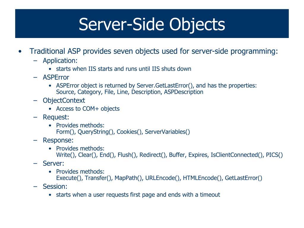 Server-Side Objects