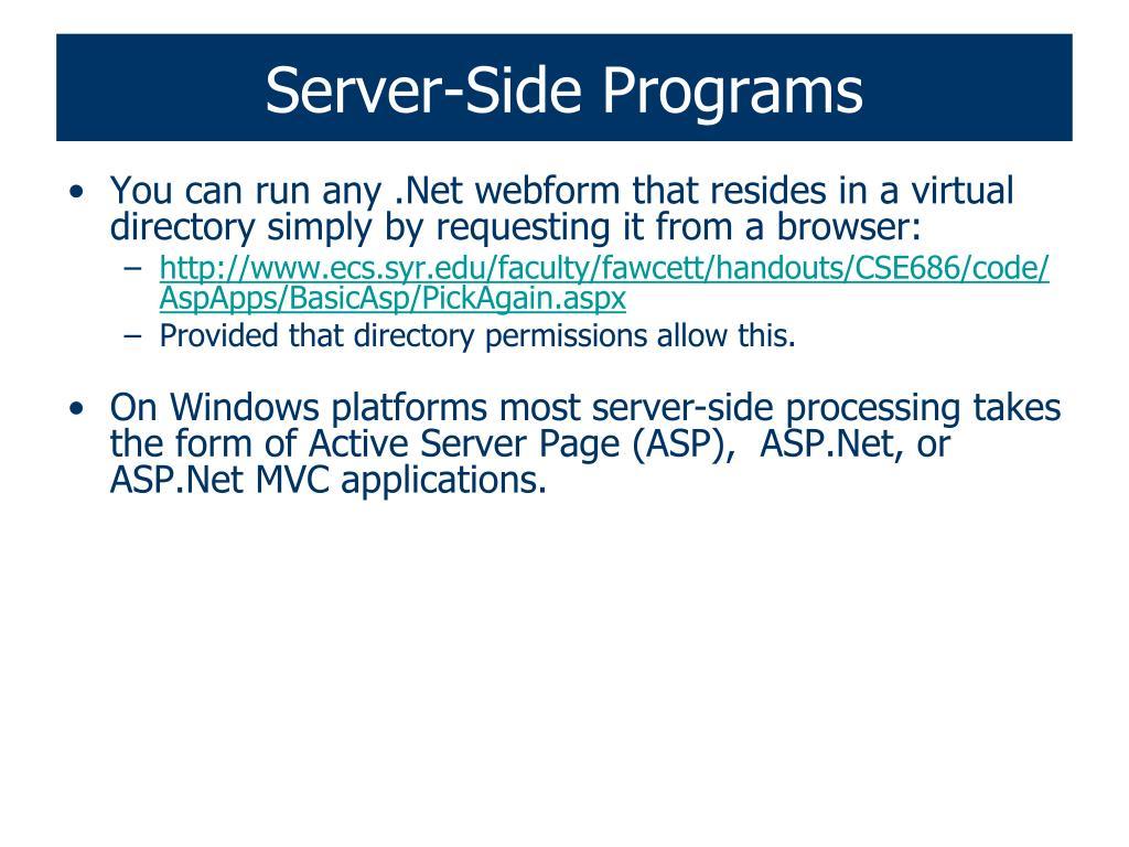 Server-Side Programs