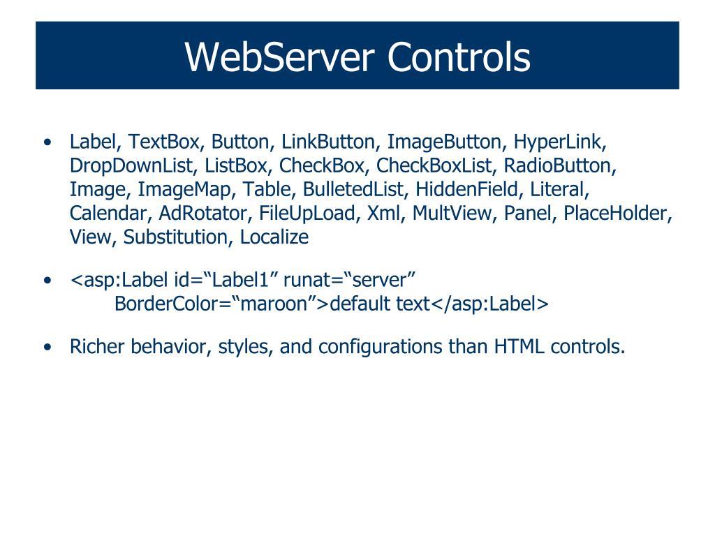 WebServer Controls