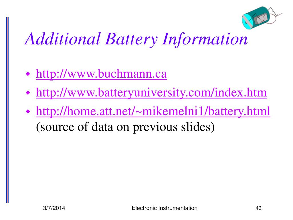 Additional Battery Information