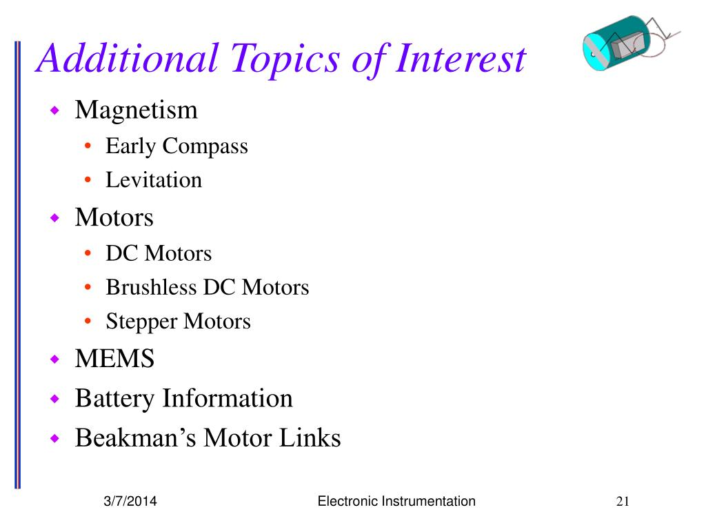 Additional Topics of Interest