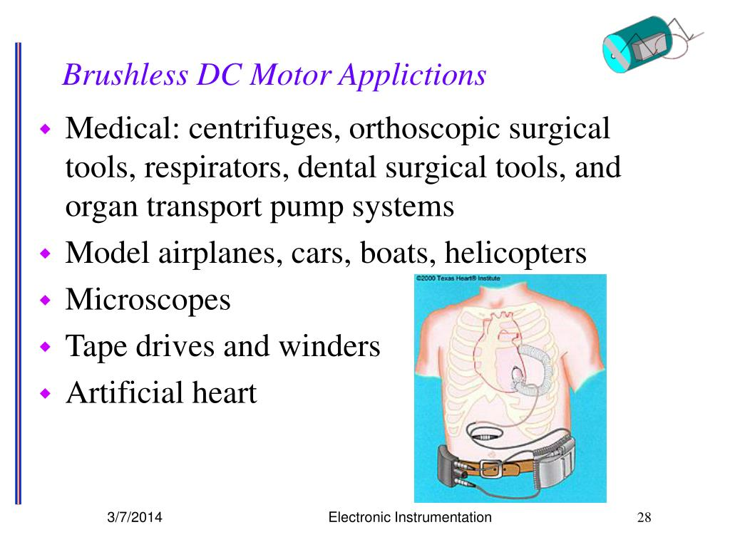 Brushless DC Motor Applictions